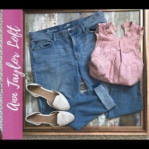 Ann Taylor Loft Boyfriend Jeans-Distressed